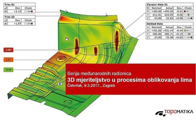 Radionica 3D mjeriteljstvo u procesima oblikovanja lima