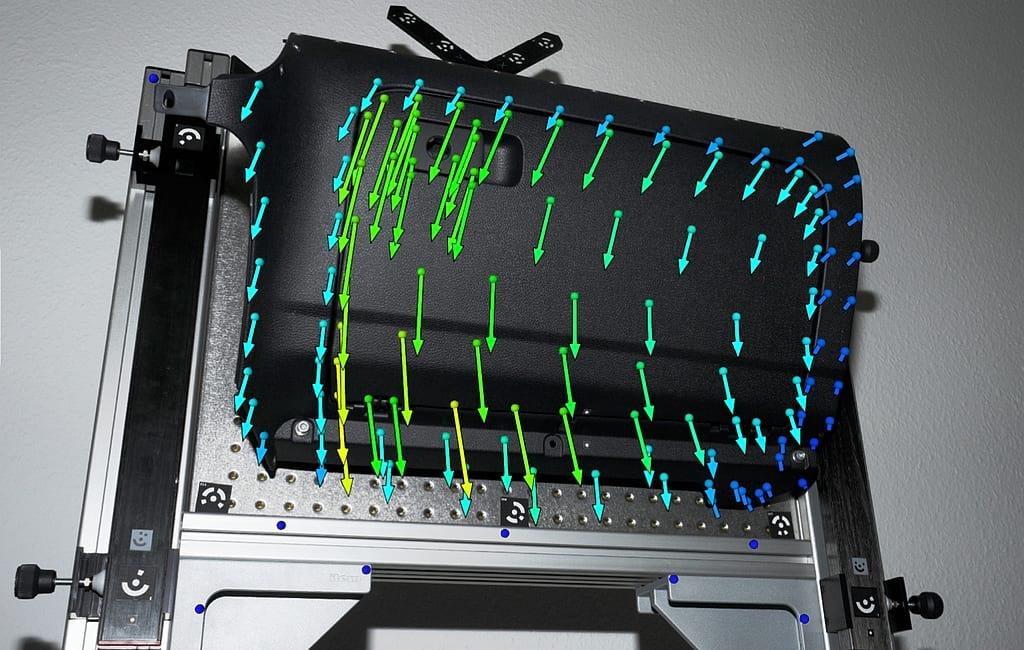 Statička analiza deformacija - optički mjerni sustav TRITOP