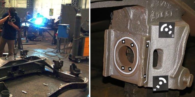 3D mjerenje i kontrola postolja vagona